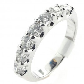 14kt White Gold 0.98ct tw Diamond Wedding Band