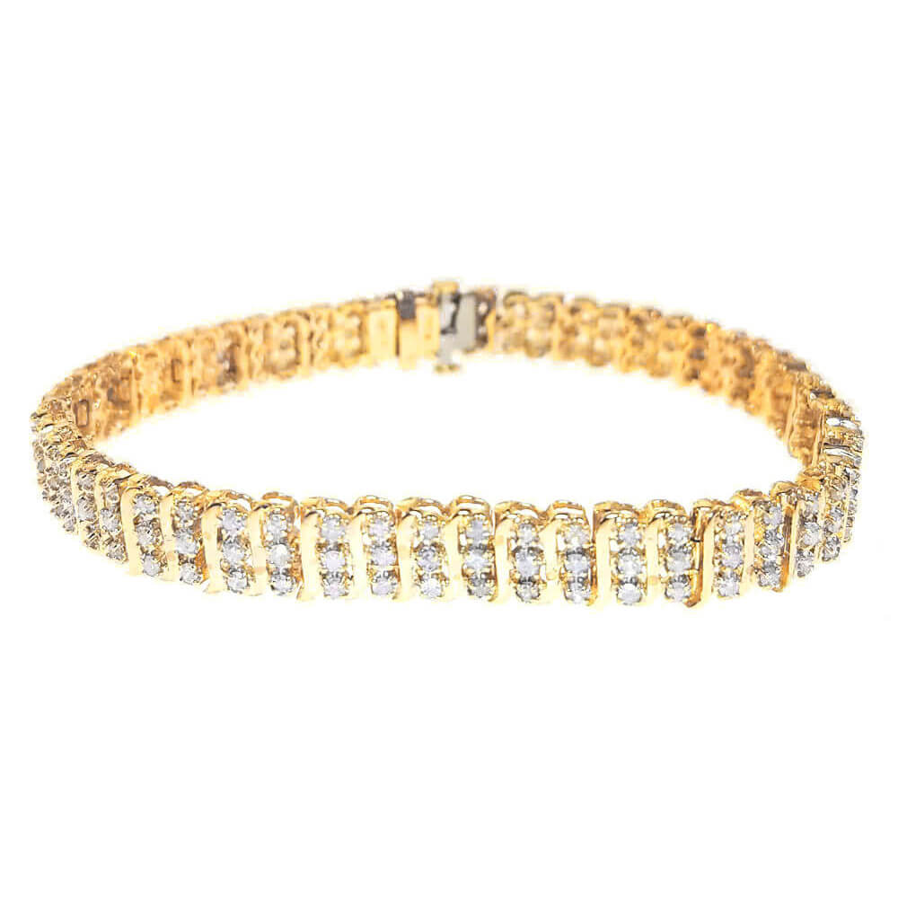 10K Yellow Gold 2.00ct Diamond Bracelet