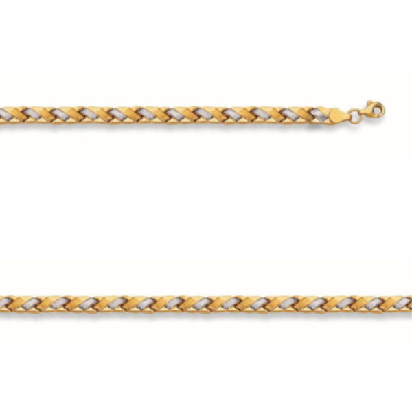 14K Two-Tone Gold Ladies Bracelet