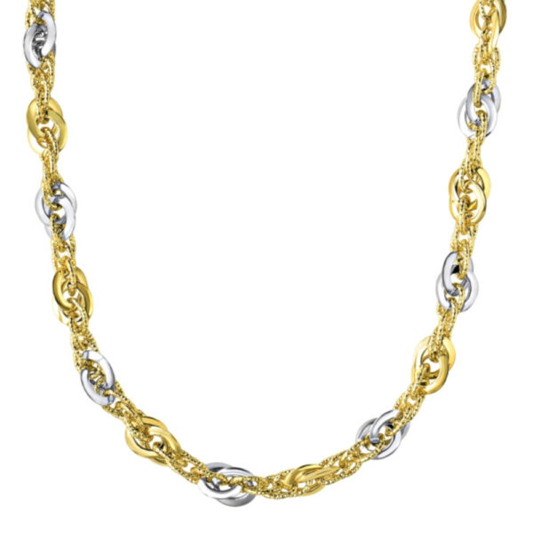 14K Two-Tone Gold Ladies Necklace