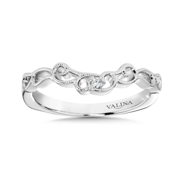 14K White Gold 0.02ct Wedding Band