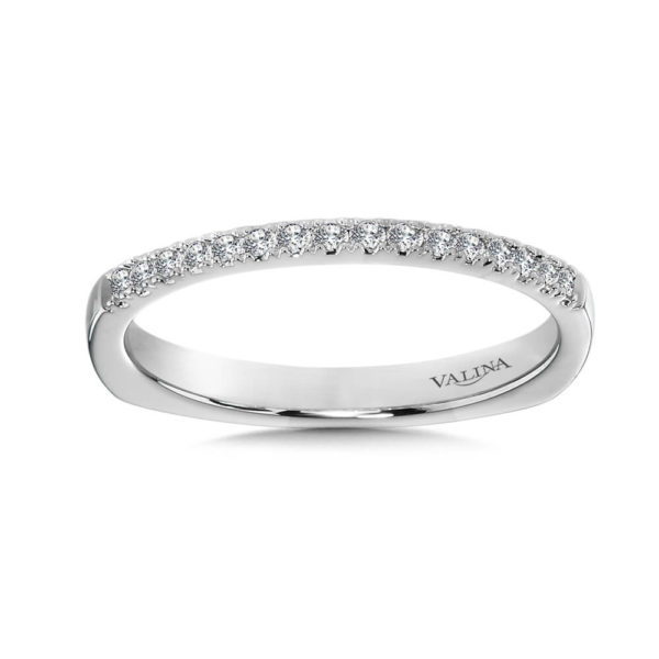 14K White Gold 0.13ct Wedding Band