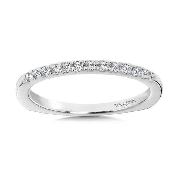 14K White Gold 0.14ct Wedding Band