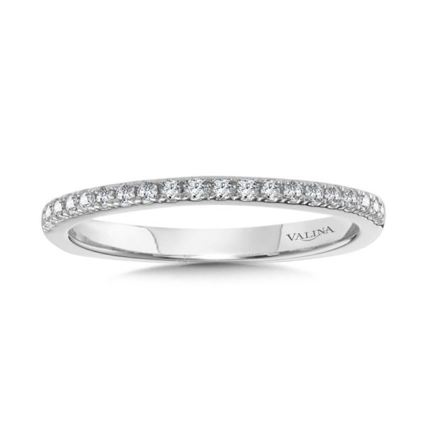 14K White Gold 0.15ct Diamond Wedding Band