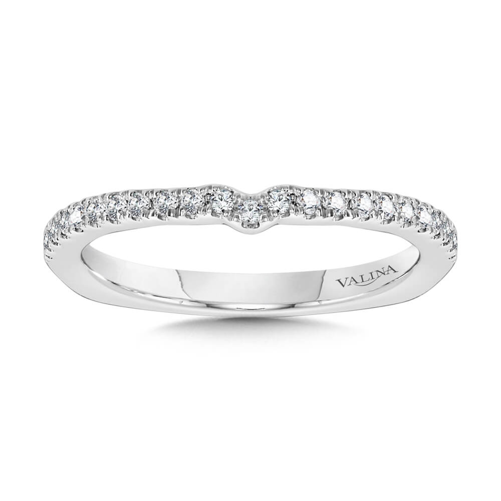 14K White Gold 0.15ct Wedding Band