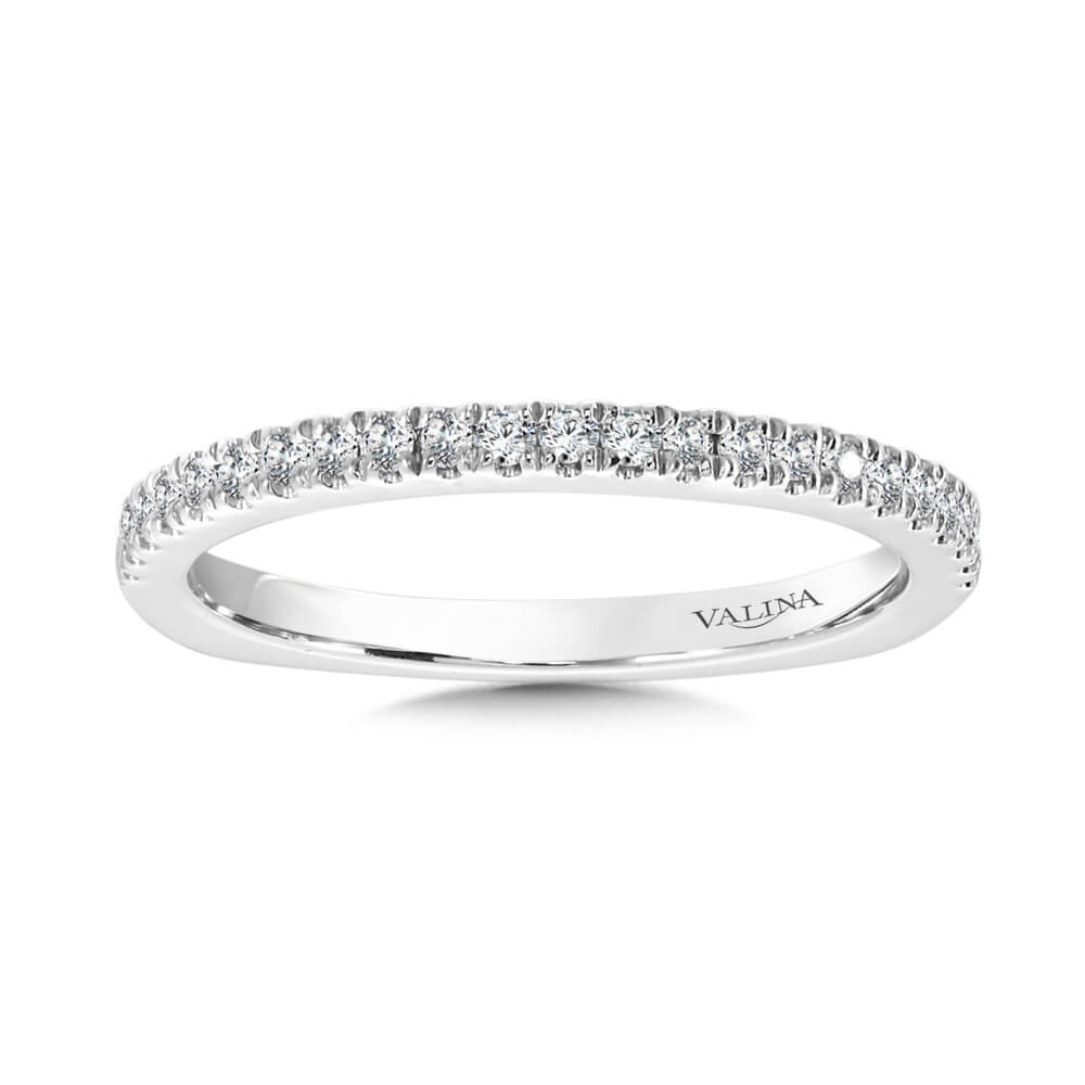 14K White Gold 0.17ct Wedding Band