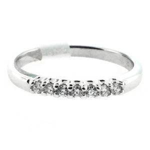 14K White Gold 0.18ct Diamond Wedding Band