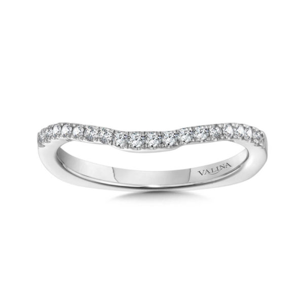 14K White Gold 0.18ct Wedding Band