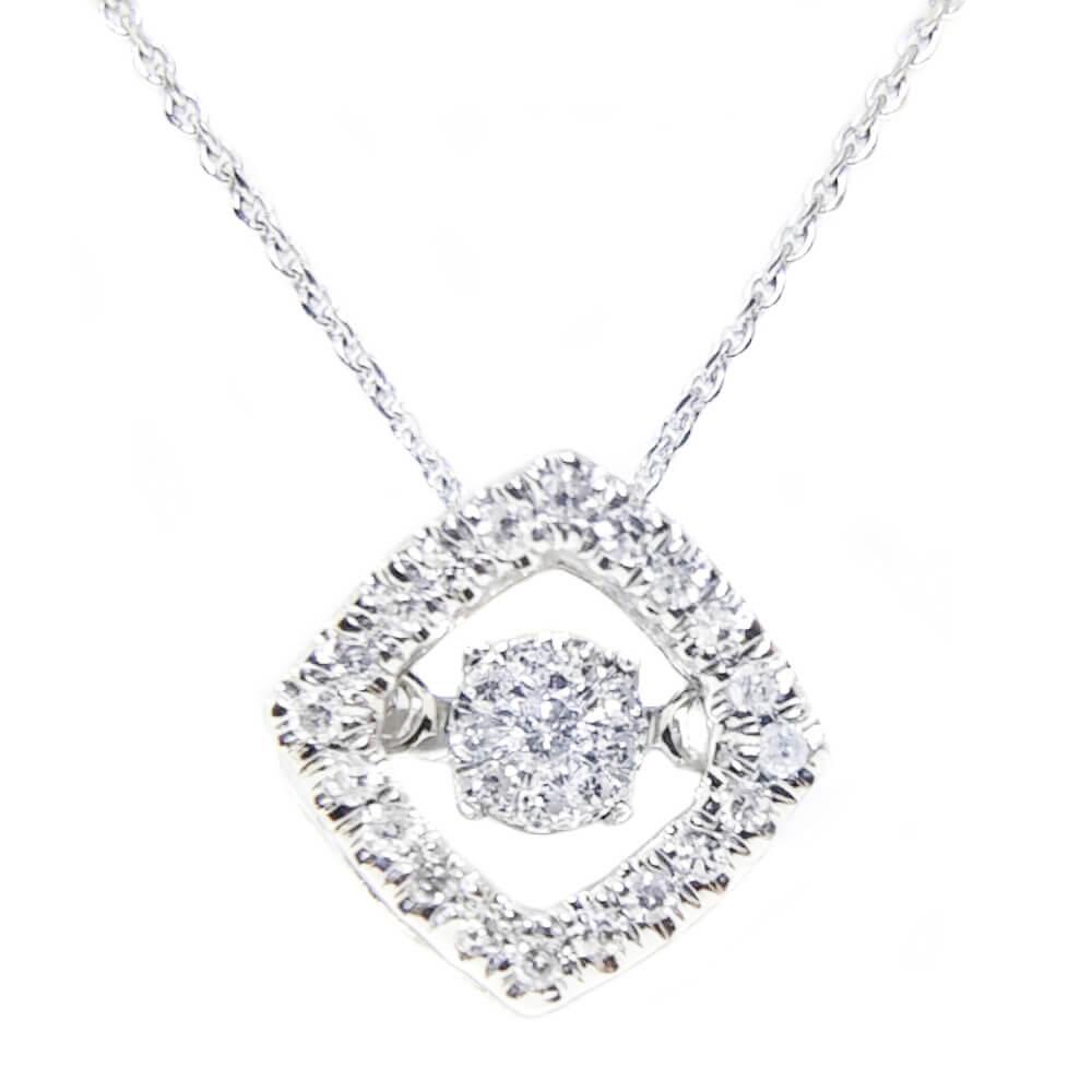 14K White Gold 0.25ct Diamond Necklace