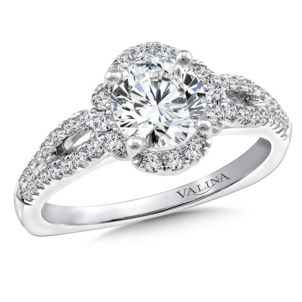 14K White Gold 0.29ct Diamond Engagement Ring