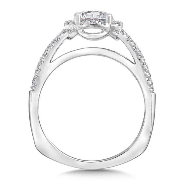 14K White Gold 0.29ct Diamond Engagement Ring