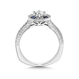 14K White Gold 0.31ct Diamond Engagement Ring