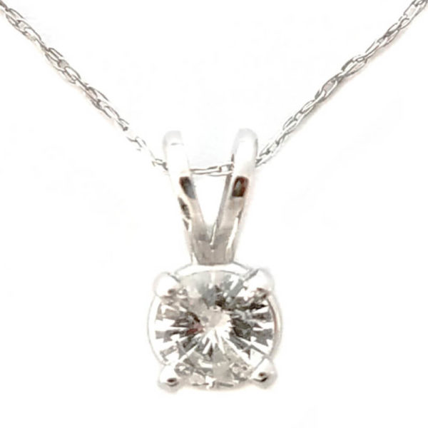 14K White Gold 0.33ct Diamond Necklace