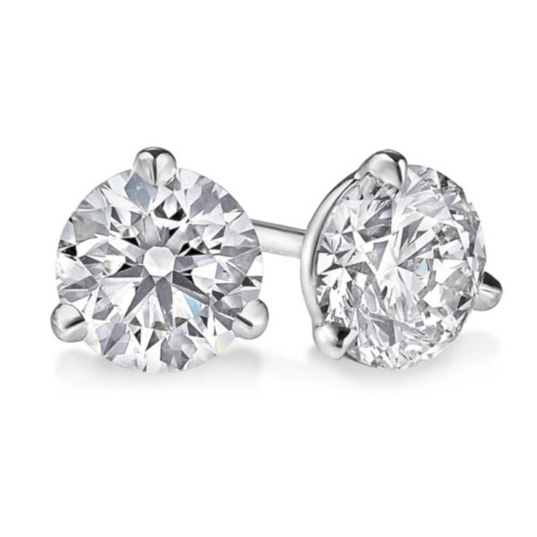 14K White Gold 0.34ct Diamond Stud Earrings