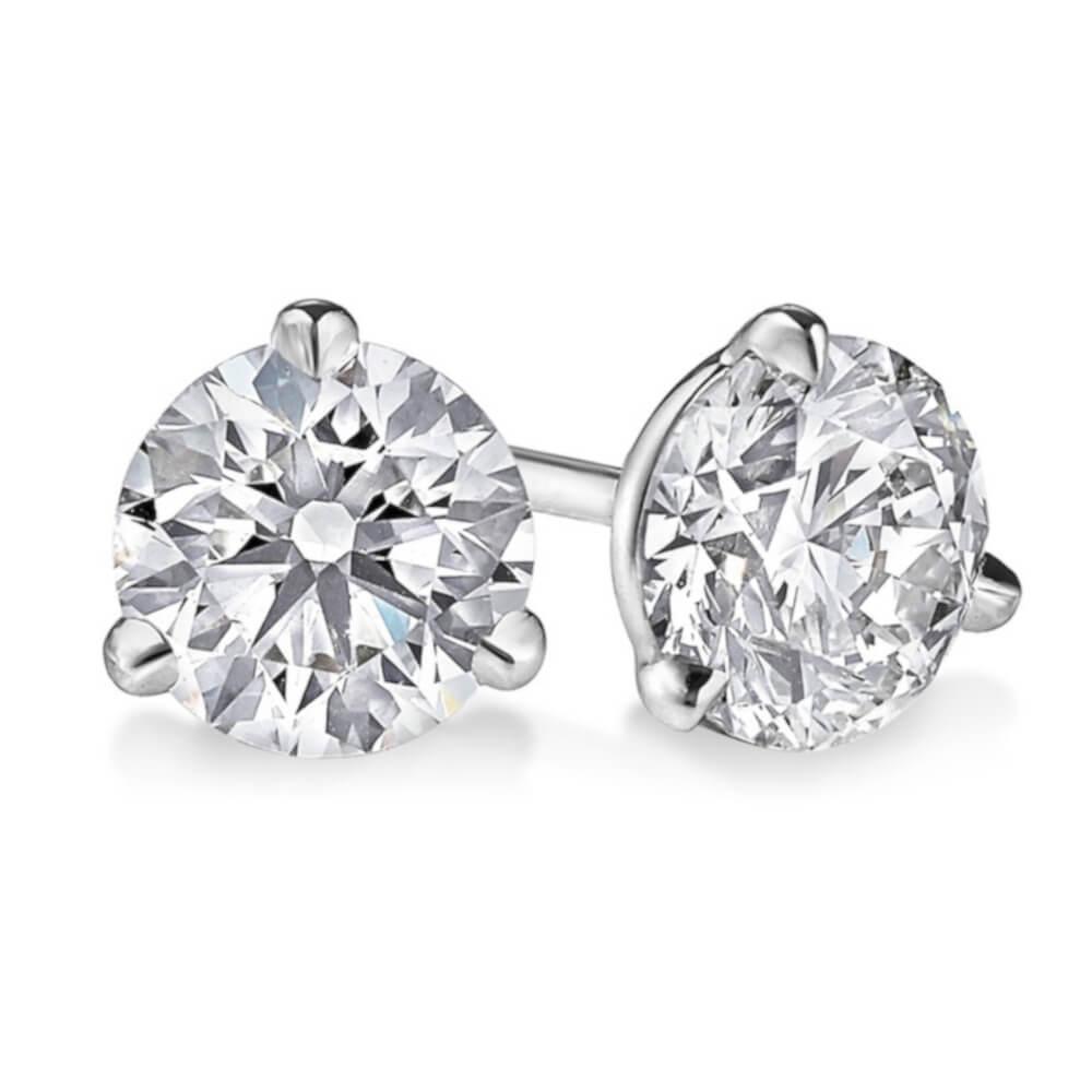 14K White Gold 0.34ct Diamond Stud Earrings