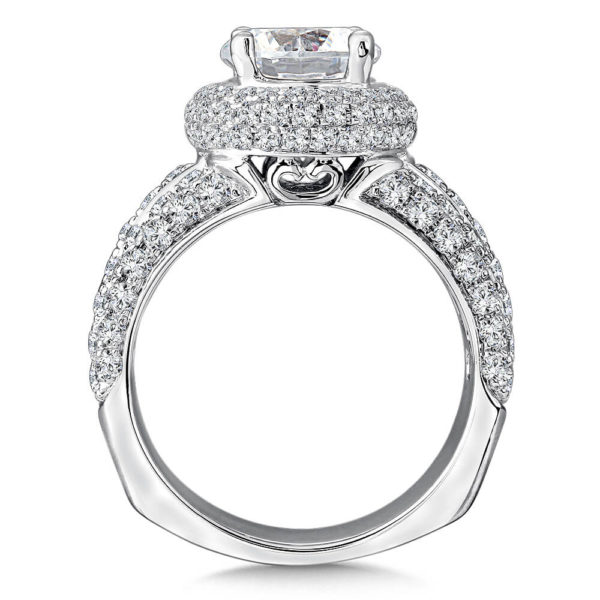 14K White Gold 0.41ct Diamond Engagement Ring