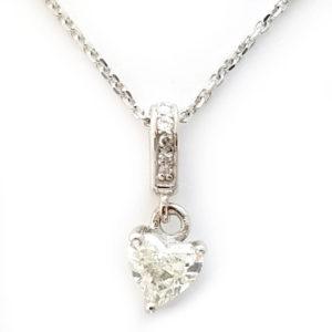 14K White Gold 0.49ct Diamond Necklace