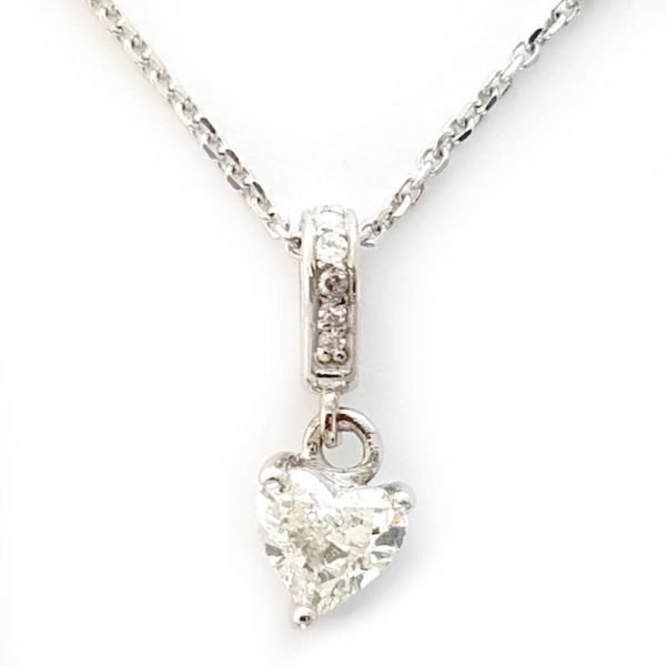 14K White Gold 0.49ct Diamond Necklace