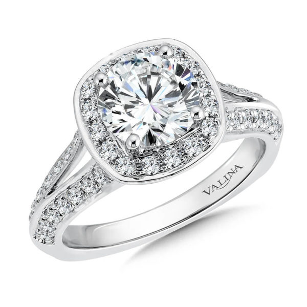 14K White Gold 0.52ct Diamond Engagement Ring
