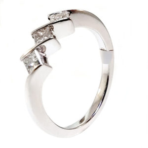 14K White Gold 0.55ct Diamond Engagement Ring