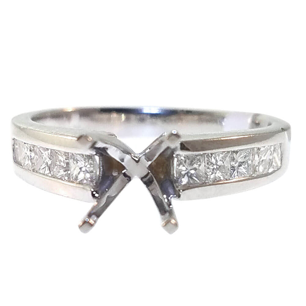 14K White Gold 0.60ct Diamond Semi-Mount Engagement Ring