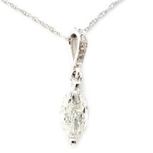 14K White Gold 0.69ct Diamond Necklace