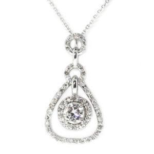 14K White Gold 0.88ct Diamond Necklace