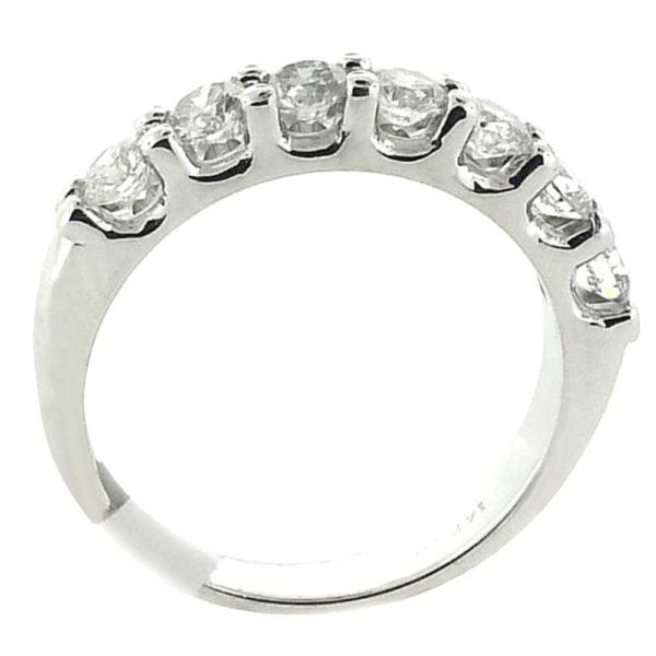 14K White Gold 0.98ct Diamond Wedding Band