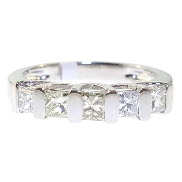 14K White Gold 0.99ct Diamond Engagement Ring