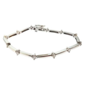 14K White Gold 1.05ct Diamond Tennis Bracelet
