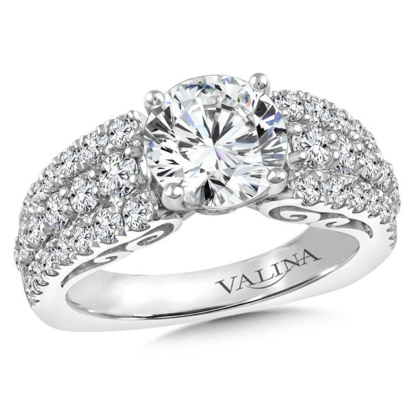 14K White Gold 1.37ct Diamond Engagement Ring
