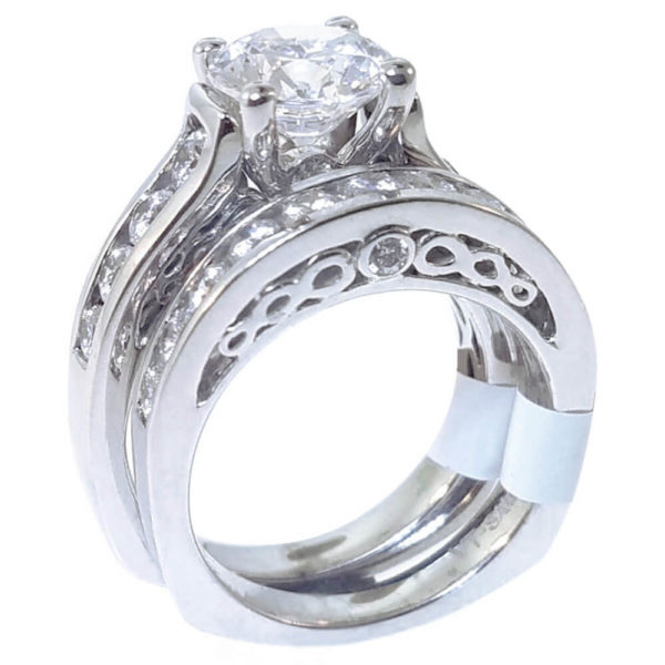 14K White Gold 1.44ct Diamond Bridal Set