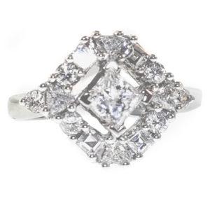 14K White Gold 1.58ct Diamond Ring