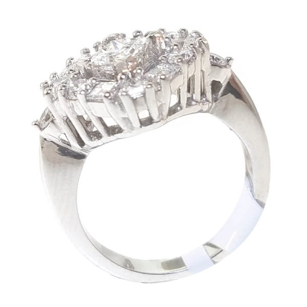 14K White Gold 1.58ct Diamond Ring