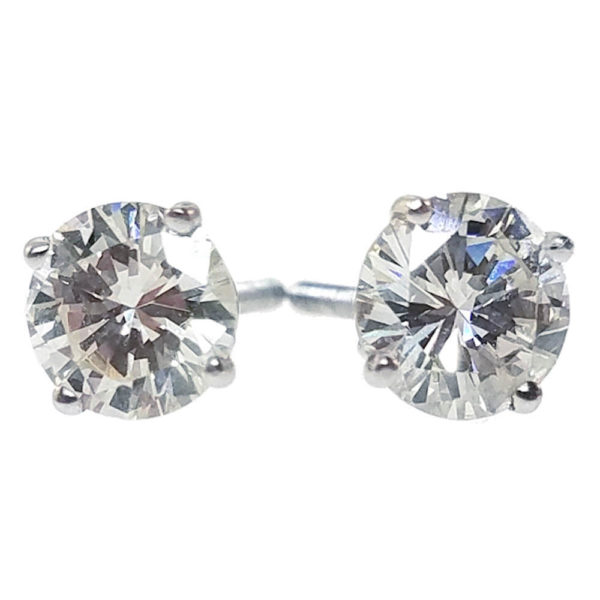 14K White Gold 1.88ct Diamond Stud Earrings
