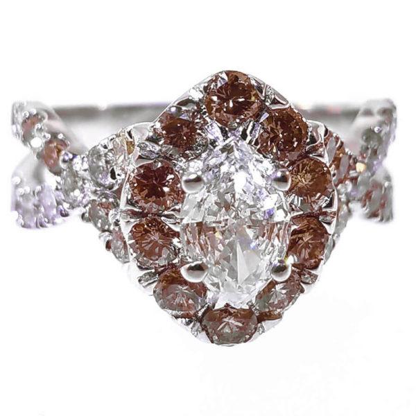 14K White Gold 2.14ct Diamond Engagement Ring