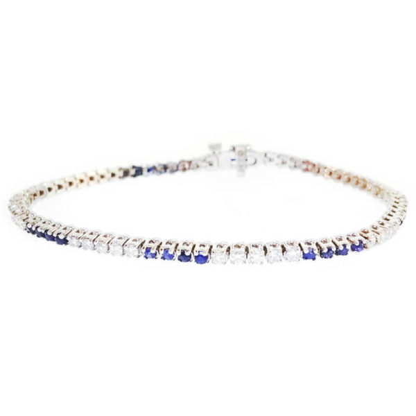 14K White Gold 2.30ct Diamond Tennis Bracelet
