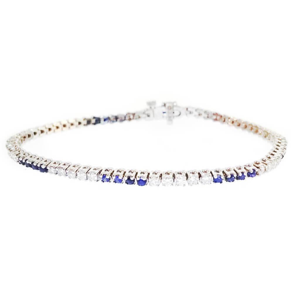 14K White Gold 2.30ct Diamond Tennis Bracelet