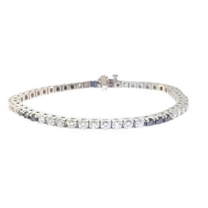 14K White Gold 4.80ct Diamond Tennis Bracelet