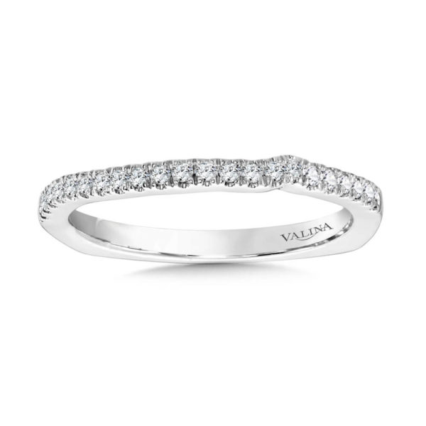 14K White Gold 0.15ct Diamond Wedding Band