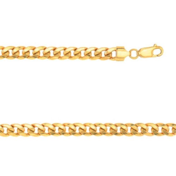 14K Yellow Gold Gent's Twist Link Bracelet