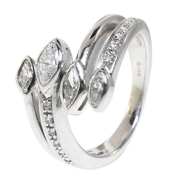 14K White Gold 0.39ct Diamond Ring