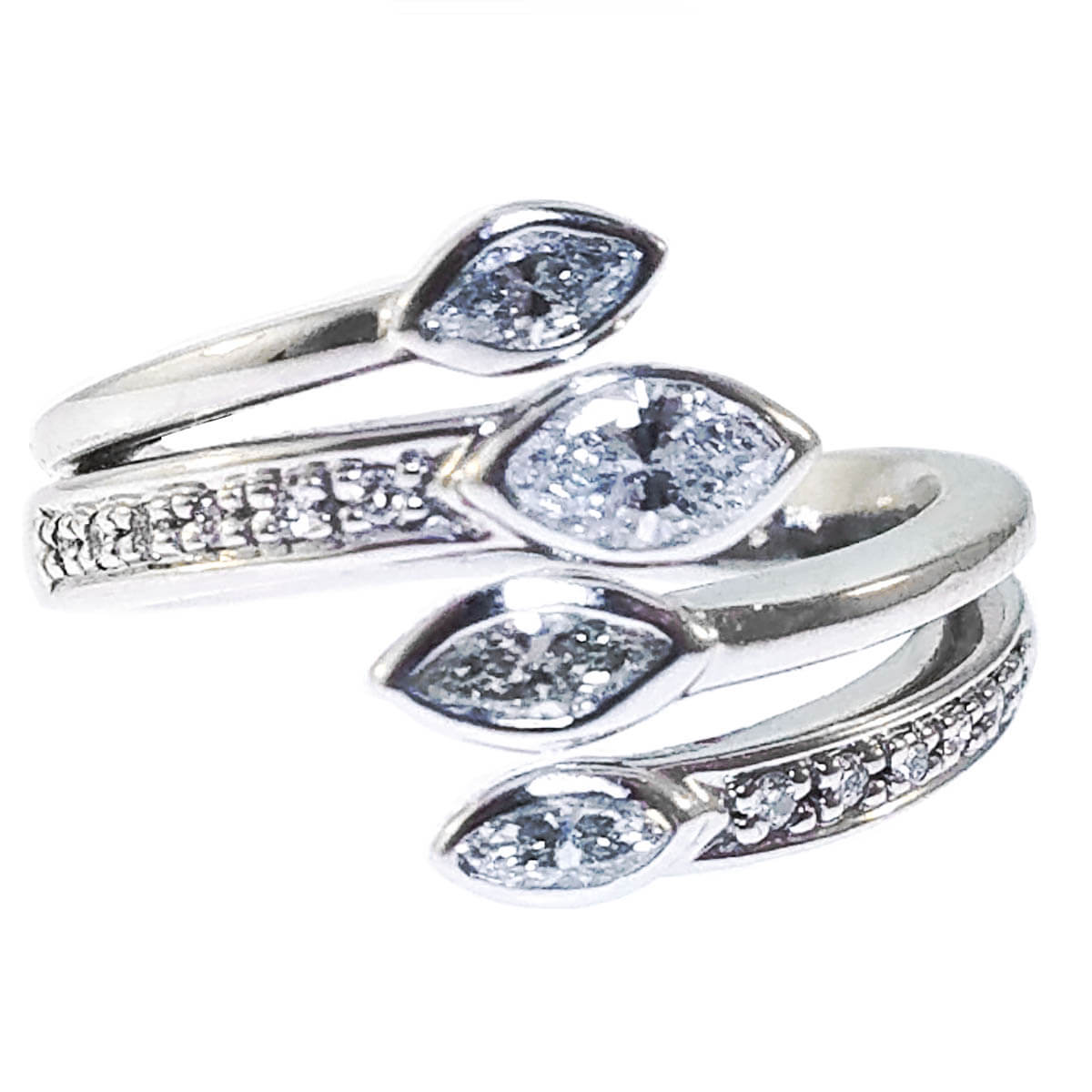 14K White Gold 0.39ct Diamond Ring