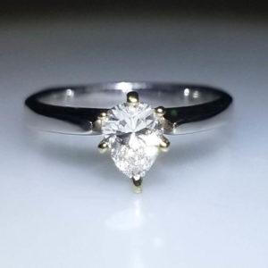 14K White Gold .50ct Daimond Engagement Ring