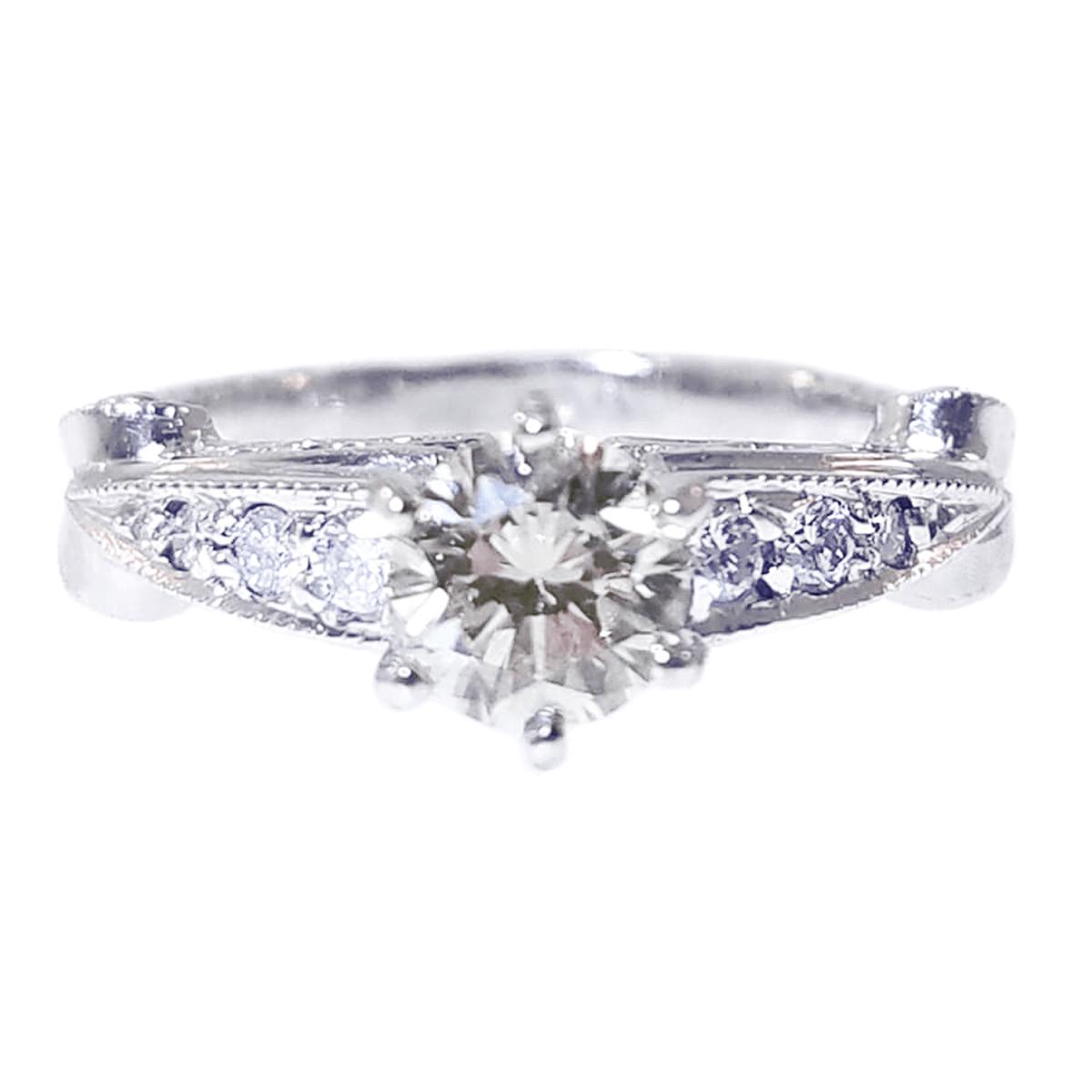 14kt White Gold 0.66ct Diamond Engagement Ring