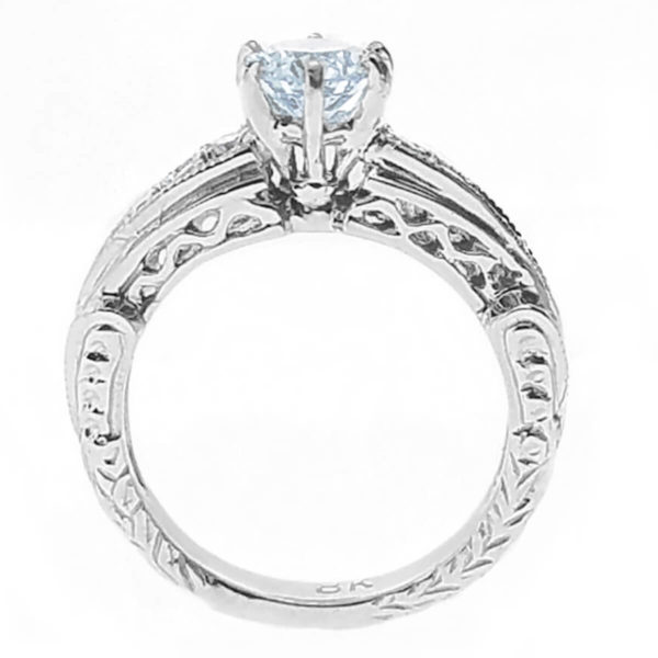 14kt White Gold 0.66ct Diamond Engagement Ring