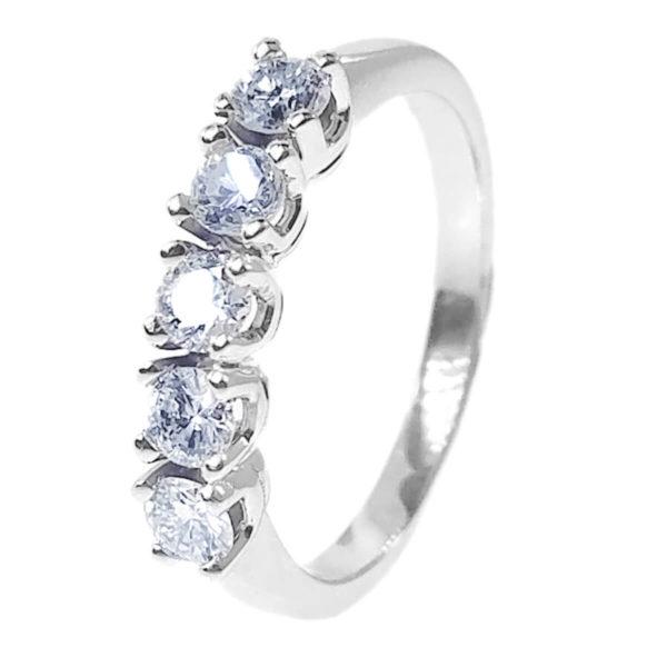 14K White Gold 0.60ct Diamond Wedding Band