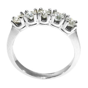 14K White Gold 0.60ct Diamond Wedding Band