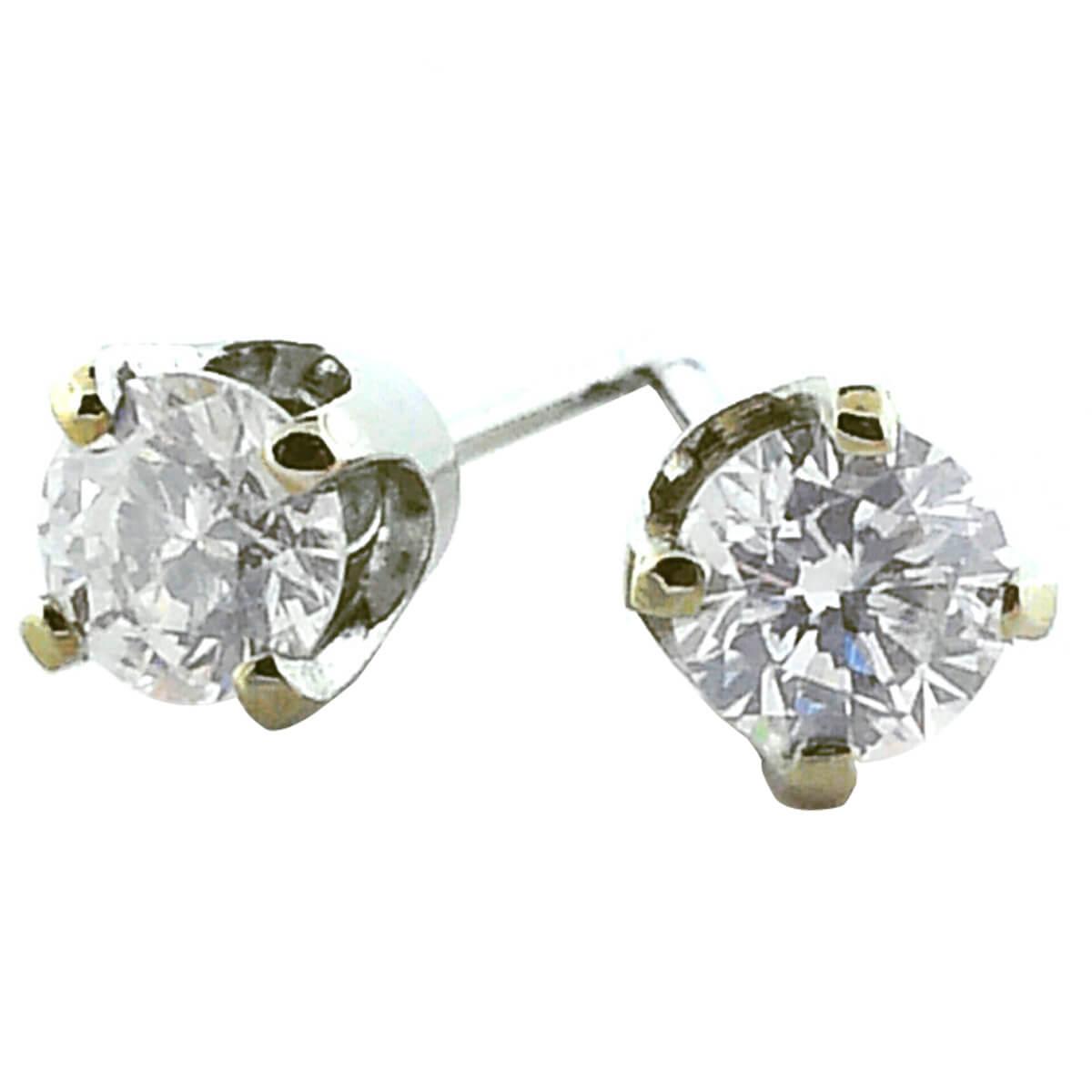 14K White Gold 0.77ct Diamond Stud Earrings