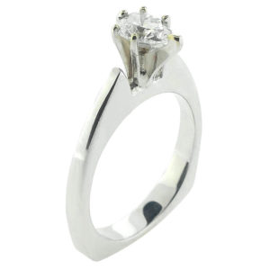 14kt White Gold 0.50ct Diamond Engagement Ring